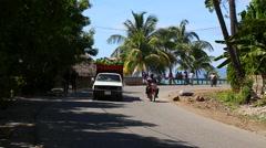 Street scene in Haiti - stock footage