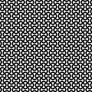 Monochrome curly stripe repeat pattern - stock illustration