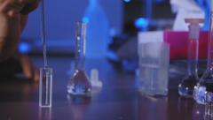 Scientist making an experiment Stock Footage