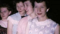 Smiling Sisters Girlfriends Best Friends 1950s Vintage Film Home Movie 8732 Stock Footage