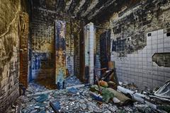 Mental Hospital Bathroom Stock Photos