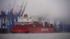 Fogy Harbor, Hamburg, Ship Stock Footage
