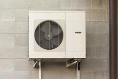 Air conditioning units for heating and cooling - stock photo