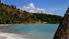 Tropical beach in Haiti Stock Footage