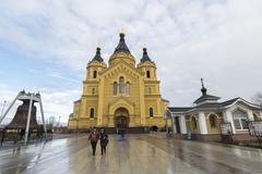 Nizhny Novgorod, Russia - 03.11.2015. The  Cathedral  St. Alexander Nevsky bu - stock photo