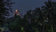 Nightlapse of a Skyscraper in Mumbai Stock Footage