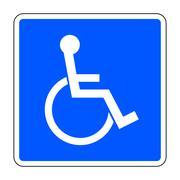 Stock Illustration of disabled blue sign