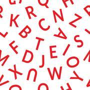 Seemless pattern letters Stock Illustration