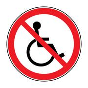 no disabled sign - stock illustration