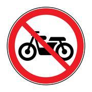 no motocycle sign - stock illustration