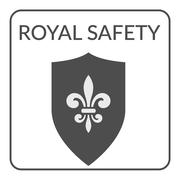 Stock Illustration of royal safety sign