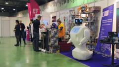 International Exhibition of Robotics Stock Footage