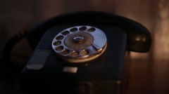 Antiques Old Phone - stock footage