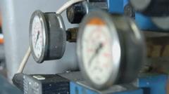 Pressure meters - stock footage