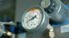 Pressure meter is showing the number - stock footage