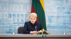 President of Lithuania Dalia Grybauskaite - stock photo
