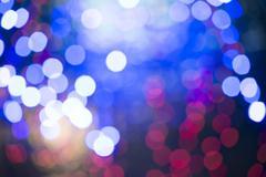 defocus christmas lights background - stock photo