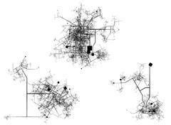A plan of three cities - stock illustration