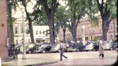 Postman Main Street Small Town America USA Vintage Film Retro Home Movie 8781 - stock footage
