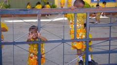 Cute Boys in Thailand School. Happy Children Stock Footage