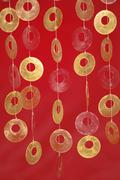 Colourful art deco with round discs Stock Photos