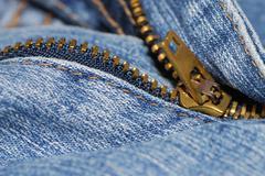 Zipper of a jeans Stock Photos
