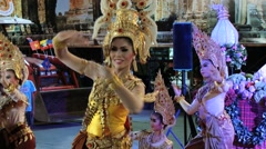 People demonstrate traditional Thai dance in Surin, Thailand. Stock Footage