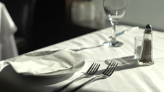 Clean Empty Dinning Table. Stock Footage