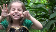 Girl Making Funny Faces Stock Footage