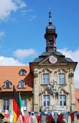 Altes Rathaus (Old town hall) in Bamberg - stock photo