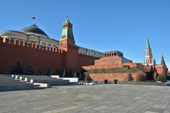 Lenin's Mausoleum. - stock photo
