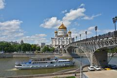 Cathedral of Christ the Savior in Moscow. - stock photo