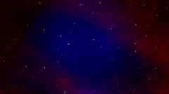 Simulated star galaxy - stock footage