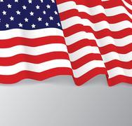 American flag, patriotic vector illustration - stock illustration
