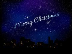 Merry Christmas. Star background - stock illustration