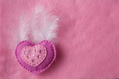 soft handmade felt background - stock photo