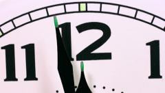 Clock passing 12 o'clock midnight. Stock Footage