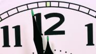 Stock Video Footage of Clock passing 12 o'clock midnight.