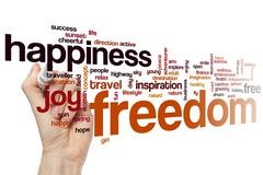 Freedom word cloud concept - stock illustration