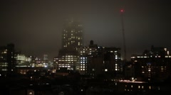 Manhattan New York City  at Night Stock Video - stock footage