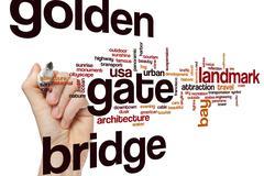Golden Gate Bridge word cloud concept Stock Illustration
