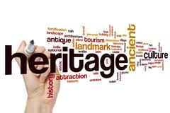 Heritage word cloud concept Stock Illustration