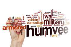 Humvee word cloud concept Stock Illustration
