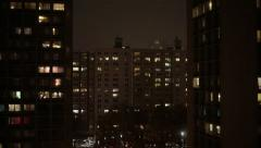Stock Video Footage of Manhattan New York City  at Night Stock Video