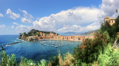 Sestri Levante Panoramic View - 29,97FPS NTSC Stock Footage