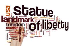 Statue of Liberty word cloud concept Stock Illustration