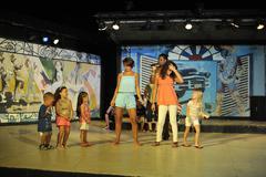 Children animation in resort. - stock photo