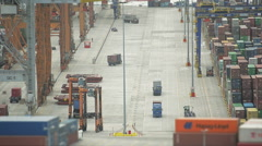 Industry View Of The Cargo Port - stock footage