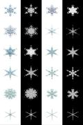 12 High Detailed Snowflakes with Alpha Keys Stock Illustration