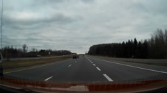 Stock Video Footage of POV dashcam driving on Ontario 400 series highways